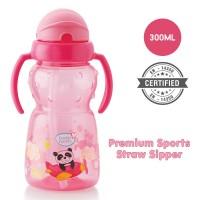 BuddsbuddyPremium 2 Handle Sports Straw Sipper 1Pc, 300ml, Pink