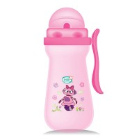 Buddsbuddy Premium Baby Sipper with Single Handle, 410ml, Pink