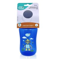 Buddsbuddy	Premium Sippy Cup With Straw Lid, 300ml, Blue
