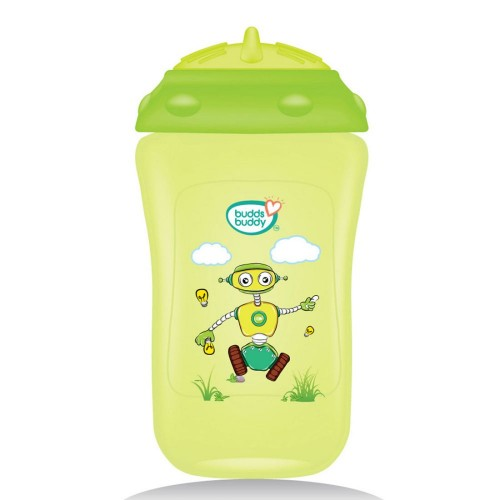 Buddsbuddy	Premium Sippy Cup With Straw Lid, 300ml, Green
