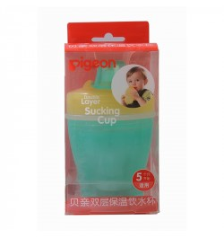 Pigeon Double Layer Sucking Cup(Yellow & Green)