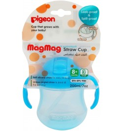 Pigeon Mag Mag Straw Cup (Sky Blue)