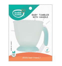 Buddsbuddy Baby Tumbler with Handle, Blue