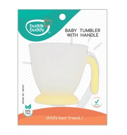 Buddsbuddy Baby Tumbler with Handle, Yellow