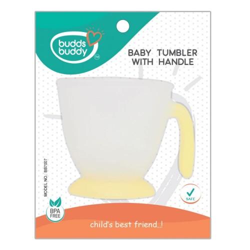 Buddsbuddy Baby Tumbler with Handle, Yellow