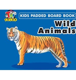 Tricolor Kids Padded Board Books-Wild Animals