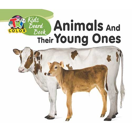 Tricolor Kids Board Books-Animals and Their Young Ones