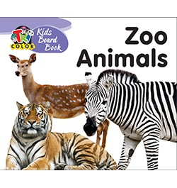 Buy Tricolor Kids Board Books-Zoo Animals Online in India