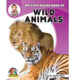 Buy Tricolor My Cute Board Book of Wild Animals Online in India
