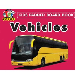 Tricolor Kids Padded Board Books-Vehicles