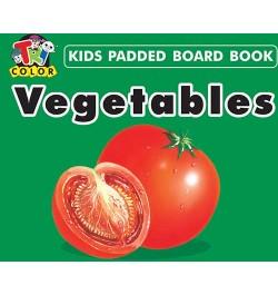Tricolor Kids Padded Board Books-Vegetables