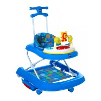 Mee Mee Advanced 3 In 1 Baby Walker with Rocker & Push Walking (Blue)