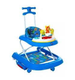 Mee Mee Advanced 3 In 1 Baby Walker with Rocker & Push Walking (Blue)