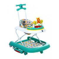 Mee Mee Advanced 3 In 1 Baby Walker with Rocker & Push Walking (Green)