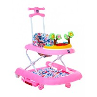 Mee Mee Premium 3 In 1 Baby Walker with Rocker & Push Walking (Pink)