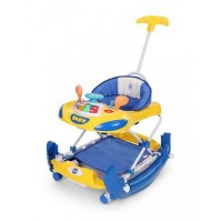 Mee Mee Premium Anti-Fall Baby Walker & Rocker (Blue)