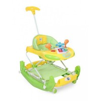 Mee Mee Premium Anti-Fall Baby Walker & Rocker (Green)