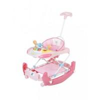 Mee Mee Premium Anti-Fall Baby Walker & Rocker (Pink)