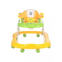 Mee Mee Simple Steps Baby Walker with Stopper (Yellow)