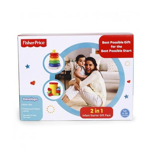 Fisher Price 2 in 1 Infant Starter Pack - Multicolor