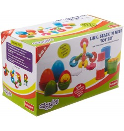 Giggles Link, Stack and Nest Toy Set, Multicolor