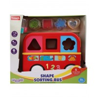 Giggles Shape Sorting Bus - Red