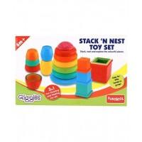 Giggles Stack N Nest Toy Set 3 in 1 - Multi Color