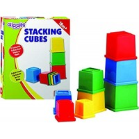 Giggles Stacking 8 Cubes - Multicolor