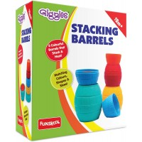 Giggles Stacking Barrels, Multi Color