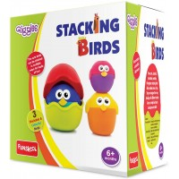 Giggles Stacking Birds Multicolor