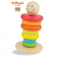 Orapple by R For Rabbit - Rainbow Rocking Stacker