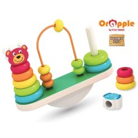 Orapple by R For Rabbit - See-Saw Balance Stacker