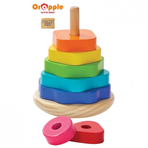 Orapple by R For Rabbit - Shape Stacker