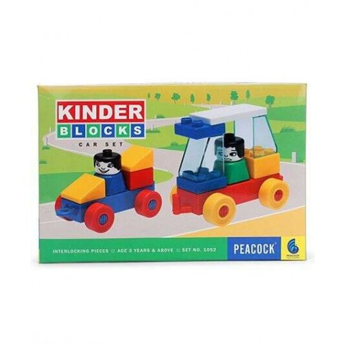 Peacock Kinder Blocks - Car Set