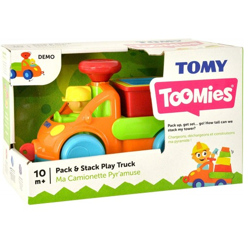 Tomy Pack and Stack Play Truck, Multi Color