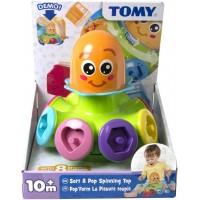 Tomy Sort N Pop Spinning Top - Octopus, Multi Color