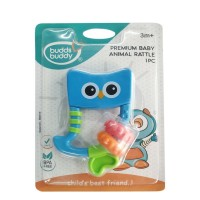 Buddsbuddy Premium Baby Animal Rattle (BlueGreen)