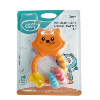 Buddsbuddy Premium Baby Animal Rattle (OrangeYellow)