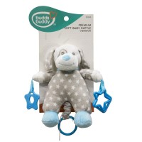 Buddsbuddy Premium Soft Baby Rattle(Music) (Blue )