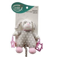 Buddsbuddy Premium Soft Baby Rattle(Music) (Pink )