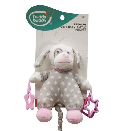 Buddsbuddy Premium Soft Baby Rattle(Music) (Pink )