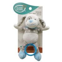 Buddsbuddy Premium Soft Baby Rattle(Vibrator) (Blue )