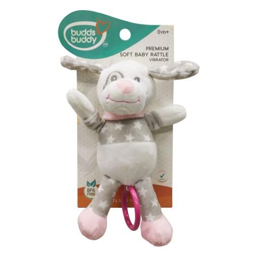 Buddsbuddy Premium Soft Baby Rattle(Vibrator) (Pink )