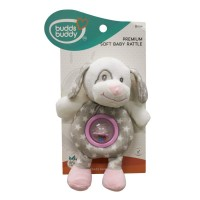 Buddsbuddy Premium Soft Funny Dog Shaped Baby Rattle(Music) (Pink)
