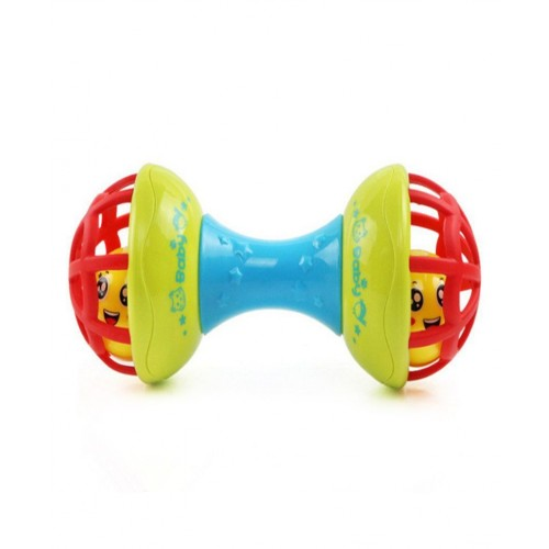 Dumbell Rattle With Jingling Ball - Colors May Vary