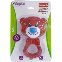 Giggles Button Nose Rattle Pack-Red