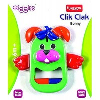 Giggles Click Clack Bunny (Color May Vary)