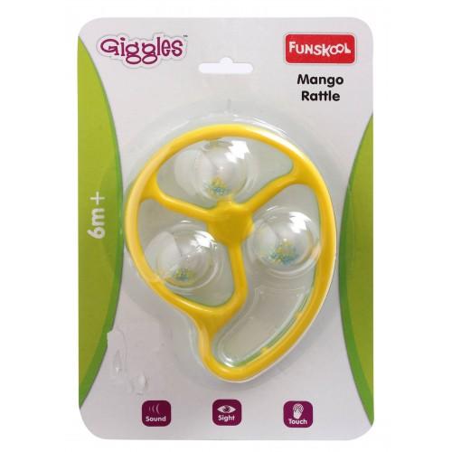 Giggles Mango Rattle-Yellow