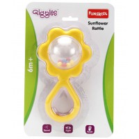 Giggles Sunflower Rattle-Yellow
