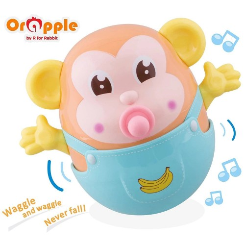 Orapple Toys by R for Rabbit - Rolly Polly Bathing Teether Plus Rattle Toys for Kids with Sound